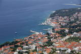 High View of Bol and Harbour, Brac Island, Dalmatian Coast, Croatia, Europe Photographic Print by John Miller