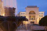 National Theatre and Opera House in Piata Victoriei at Dusk, Timisoara, Banat, Romania, Europe Photographic Print by Ian Trower