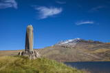Phallic Stone at Kari Lake Situated at the Base of Mount Aragats Photographic Print by Jane Sweeney
