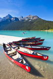 Red Canoes for Hire Photographic Print by Neale Clark