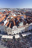 View from the Old Town Hall over the Old Town Square Photographic Print by Markus Lange