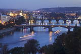 Bridges over the Vltava River Including Charles Bridge and the Old Town Bridge Tower Photographic Print by Markus Lange