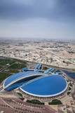 View of Aspire Sports Center, Doha, Qatar, Middle East Photographic Print by Jane Sweeney