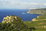 Monolithos Castle and Aegean Sea, Rhodes, Dodecanese, Aegean Sea, Greek Islands, Greece, Europe Photographic Print by Jochen Schlenker
