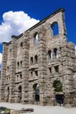 Roman Theater (Teatro Romano), Aosta, Aosta Valley, Italian Alps, Italy, Europe Photographic Print by Nico Tondini