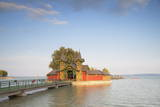 Pier on Keszthely Beach, Keszthely, Lake Balaton, Hungary, Europe Photographic Print by Ian Trower