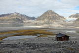 Governor's Cabin at Trinityhamn, Magdalenefjord, Svalbard, Norway, Scandinavia, Europe Photographic Print by David Lomax