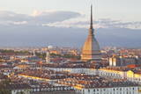The Mole Antonelliana Rising Above Turin at Sunset, Turin, Piedmont, Italy, Europe Photographic Print by Julian Elliott