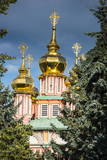 The Golden Domes of the Trinity Lavra of St. Sergius Photographic Print by Michael Runkel