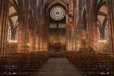 The Nave of Strasbourg Cathedral, Strasbourg, Bas-Rhin, Alsace, France, Europe Photographic Print by Julian Elliott