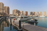 Marina at the Pearl Qatar, Doha, Qatar, Middle East Photographic Print by Jane Sweeney