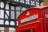 Telephone Box on Northgate Street, Chester, Cheshire, England, United Kingdom, Europe Photographic Print by Frank Fell