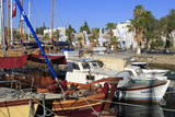 Boats in Bodrum Harbor, Anatolia, Turkey, Asia Minor, Eurasia Photographic Print by Richard Cummins