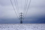 Electricity Pylon in Winter, Near Winchcombe, Gloucestershire, England, United Kingdom, Europe Photographic Print by Stuart Black