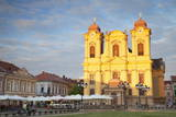 Roman Catholic Cathedral in Piata Unirii, Timisoara, Banat, Romania, Europe Photographic Print by Ian Trower