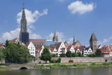 View over River Danube to the Old Town of Ulm Photographic Print by Markus Lange