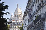 Sacre Coeur Through the Streets of Montmartre in Paris, France, Europe Photographic Print by Julian Elliott