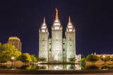 The Salt Lake Temple at Night Photographic Print by Michael Nolan