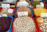 Dried Legumes, Food Market, Kuching, Sarawak, Malaysian Borneo, Malaysia, Southeast Asia, Asia Photographic Print by Nico Tondini