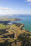 Aerial View over the Bay of Islands, Northland, North Island, New Zealand, Pacific Photographic Print by Douglas Pearson