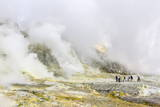 Visitors at an Active Andesite Stratovolcano on White Island, North Island, New Zealand, Pacific Photographic Print by Michael Nolan