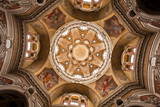 The Complex Geometrical Baroque Ceiling of San Lorenzo Church Photographic Print by Julian Elliott