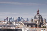La Defense Rising Above the Rooftops of Paris, France, Europe Photographic Print by Julian Elliott