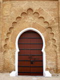 Traditional Doorway to Koutoubia Mosque Photographic Print by Simon Montgomery