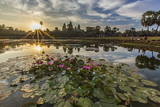 Sunrise over Angkor Wat Photographic Print by Michael Nolan