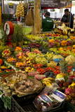 Fruit and Vegetable Stall at Campo De Fiori Market, Rome, Lazio, Italy, Europe Photographic Print by Peter Barritt