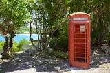 Red Telephone Box at Mama Pasta'S Photographic Print by Frank Fell