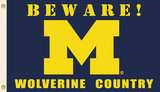 NCAA Michigan Wolverines Country Flag with Grommets Flag