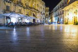 Tourists Eating at a Restaurant in Piazza Duomo at Night Photographic Print by Matthew Williams-Ellis