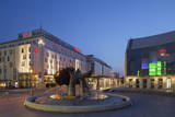 Slovak National Theatre and Sheraton Hotel at Dusk, Bratislava, Slovakia, Europe Photographic Print by Ian Trower