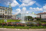 Fountain in Front of the Kazan Cathedral in St. Petersburg, Russia, Europe Photographic Print by Michael Runkel
