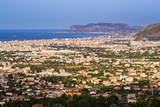 Cityscape of Palermo (Palermu) and the Coast of Sicily Photographic Print by Matthew Williams-Ellis