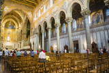 Interior of Monreale Cathedral (Duomo Di Monreale) at Monreale, Near Palermo, Sicily, Italy, Europe Photographic Print by Matthew Williams-Ellis