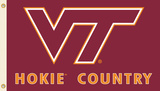 NCAA Virginia Tech Hokies Country Flag with Grommets Flag