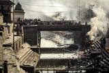 Pashupatinath Cremation Ghats Alongside the Bagmati River Photographic Print by Andrew Taylor