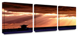Gloaming Shore 3-Piece Canvas Set Art by Lindsey Janich