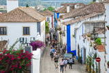 Streets, Obidos, Estremadura, Portugal, Europe Photographic Print by G and M Therin-Weise