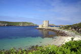 Cromwell's Castle in Summer Sunshine, Isle of Tresco, Isles of Scilly, United Kingdom, Europe Photographic Print by Peter Barritt