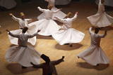 Whirling Dervishes at the Dervishes Festival, Konya, Central Anatolia, Turkey, Asia Minor, Eurasia Photographie par Bruno Morandi