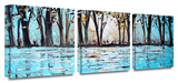 Wonderland 3-Piece Canvas Set Gallery Wrapped Canvas Set by Jolina Anthony