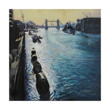 The Thames - Summer Morning Giclee Print by John Erskine