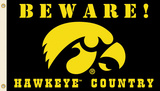 NCAA Iowa Hawkeyes   Country Flag with Grommets Flag
