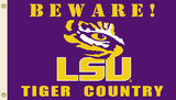 NCAA Louisiana State Tigers Country Flag with Grommets Flag