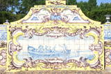Azulejos of the Tiled Canal, Royal Summer Palace of Queluz, Lisbon, Portugal, Europe Photographic Print by G and M Therin-Weise