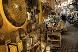 Shop Selling Traditional Metal Lamps and Trays in the Souks Photographic Print by Martin Child