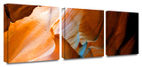 Slot Canyon 3-Piece Canvas Set Gallery Wrapped Canvas Set by Linda Parker